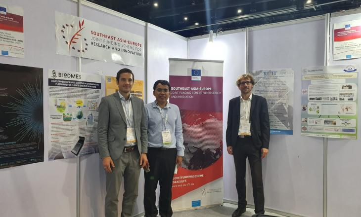 The SEA-EU JFS booth at the Bio Investment Asia 2019 conference